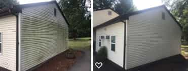 House Washing Before and After Middletown CT