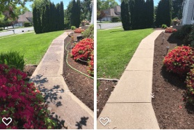 Sidewalk Cleaning Before and After North Haven CT